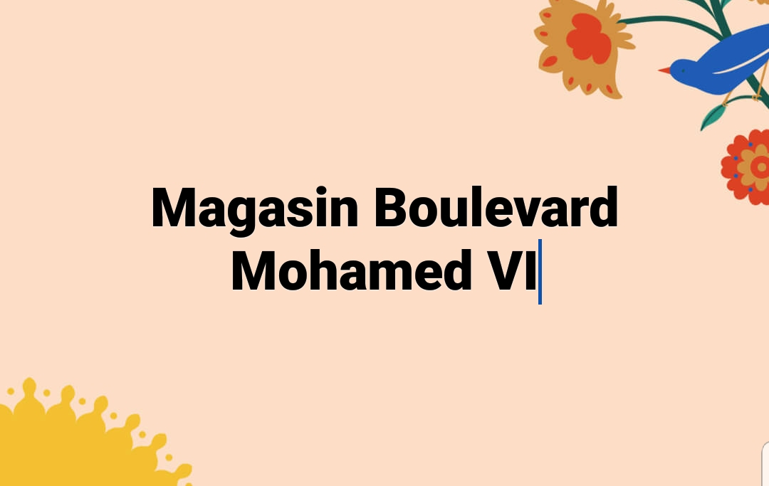 Location Magasin Boulevard Mohamed VI